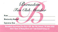 Bernadette Fan Club